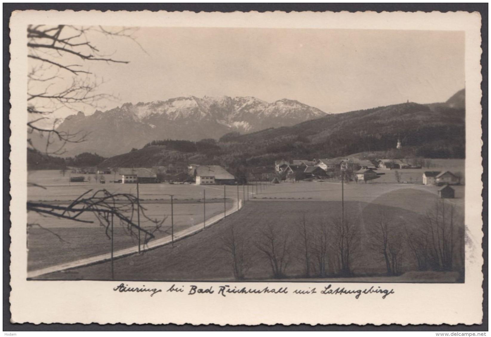 """""""Ainring"""", Fotokarte, Mit Landpost Gelaufen - Bad Reichenhall"""