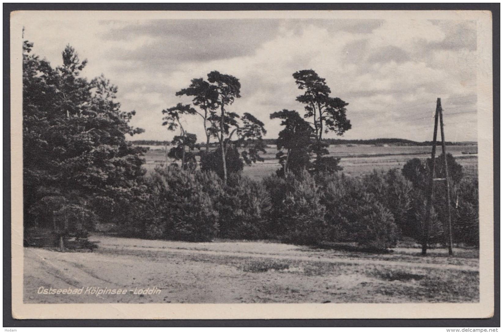 """""""Kölpinsee-Loddin"""", Ostseebad, Fotokarte, 1954 - Deutschland"""