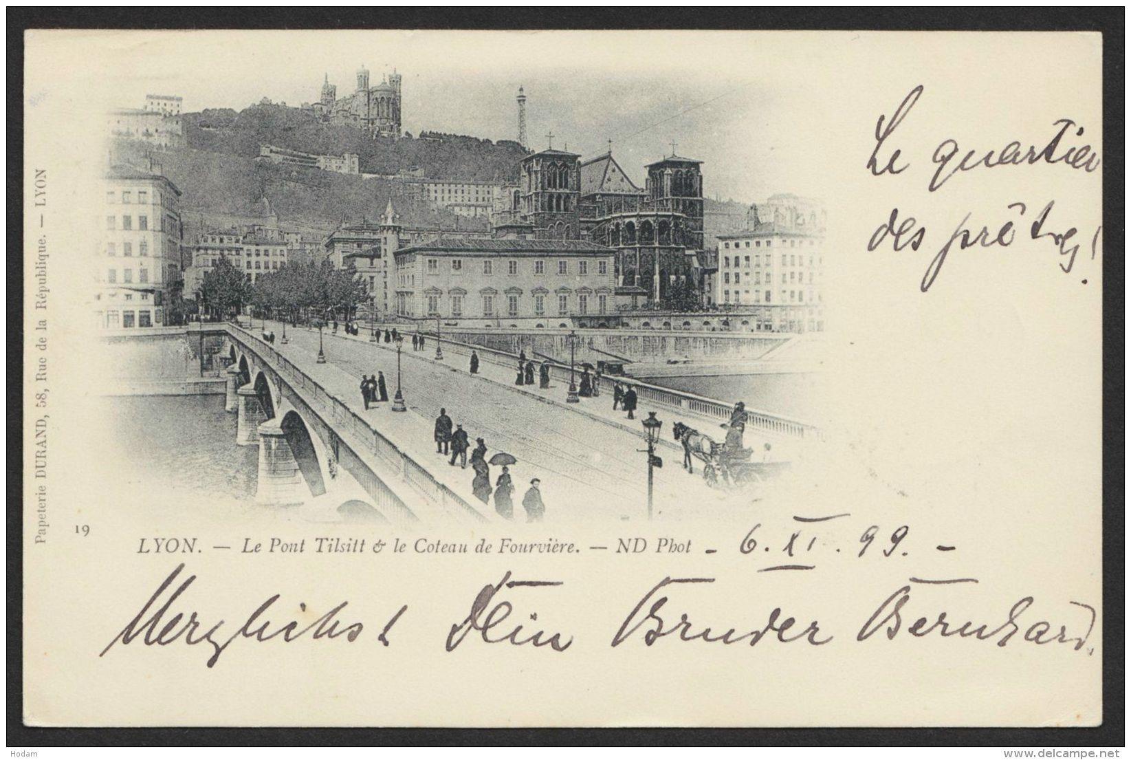 """""""Lyon"""", 1899 Nach Deutschland Gelaufen - Frankreich"""