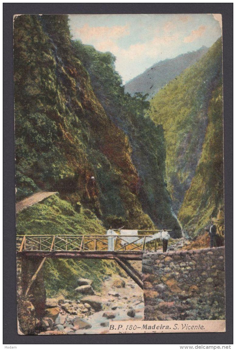 """""""Madeira"""", Farbig, 1910 Nach Deutschland Gelaufen - Spanien"""
