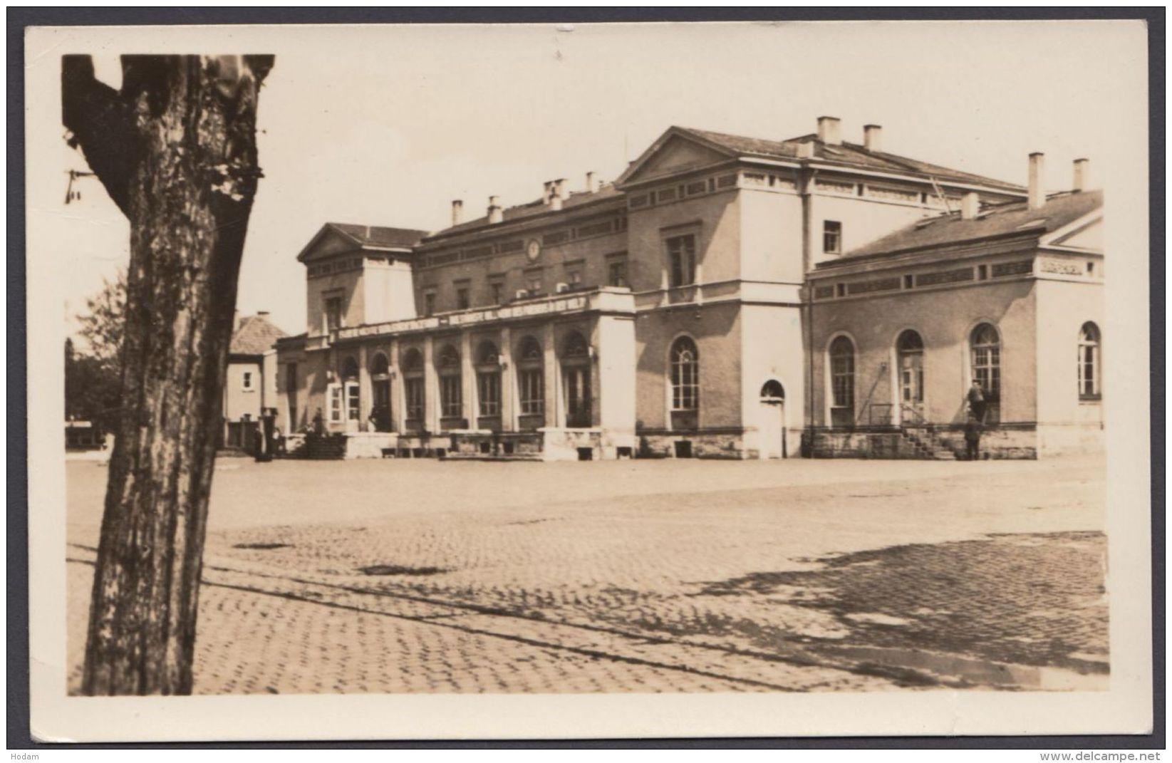 """""""Mühlhausen"""", Bahnhof, Fotokarte, 1951 Gelaufen - Mühlhausen"""