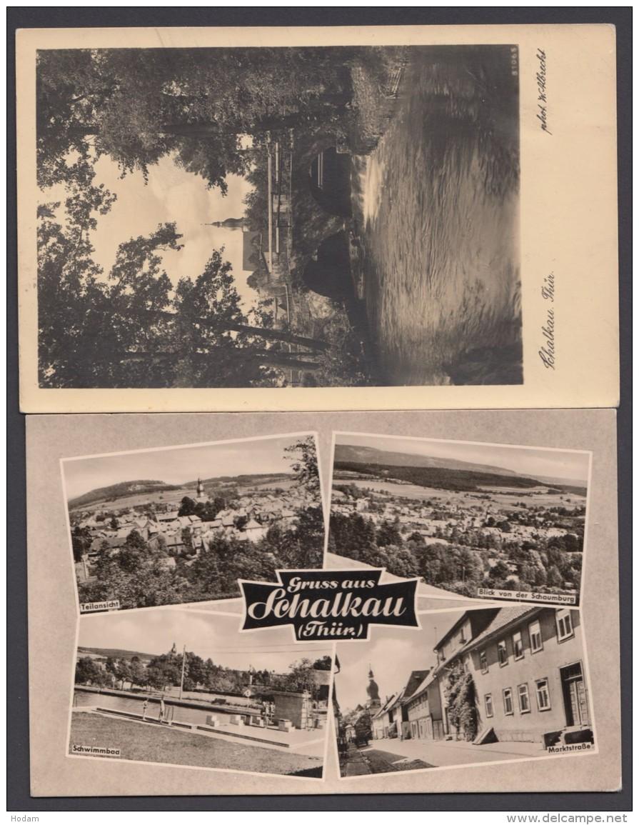 """""""Schalkau"""", 2 Versch. Fotokarten, 50er/60er Jahre - Deutschland"""