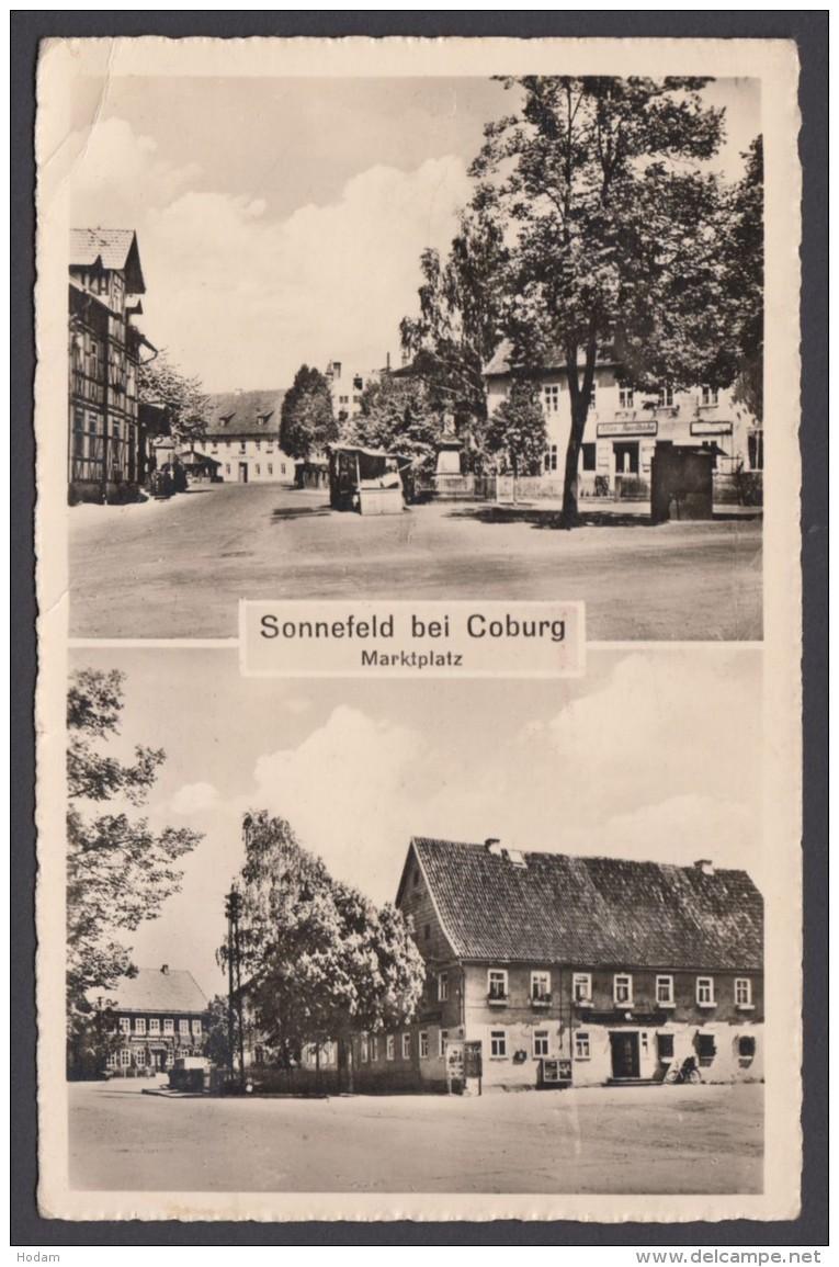 """""""Sonnefeld Bei Coburg"""", Fotokarte, 1955 Gelaufen - Coburg"""