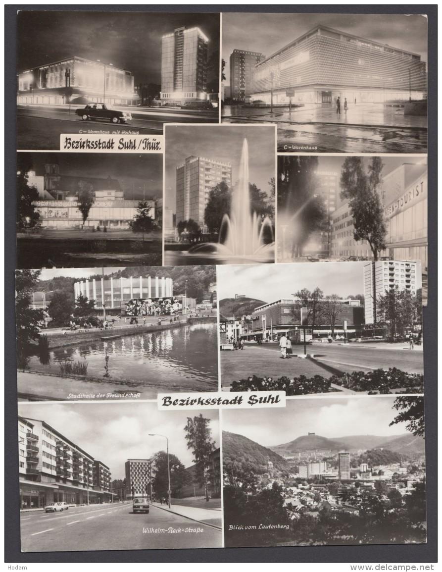"""Suhl"", Bezirkshauptstadt, 2 Versch. Mehrbild-Fotokarten - Suhl"