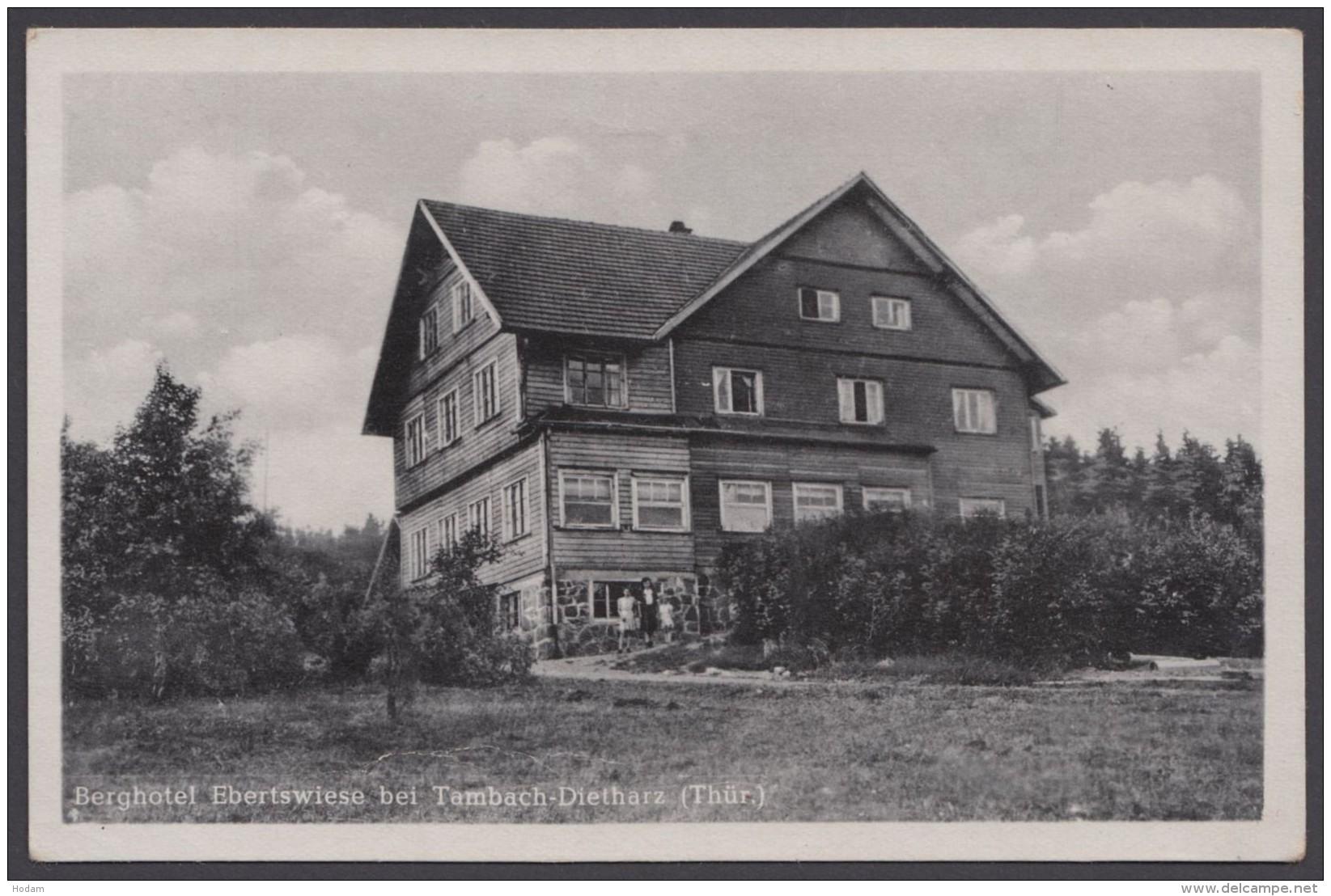 """""""Tambach-Dietharz"""", Berghotel Ebertswiese, Fotokarte, 1954 - Tambach-Dietharz"""