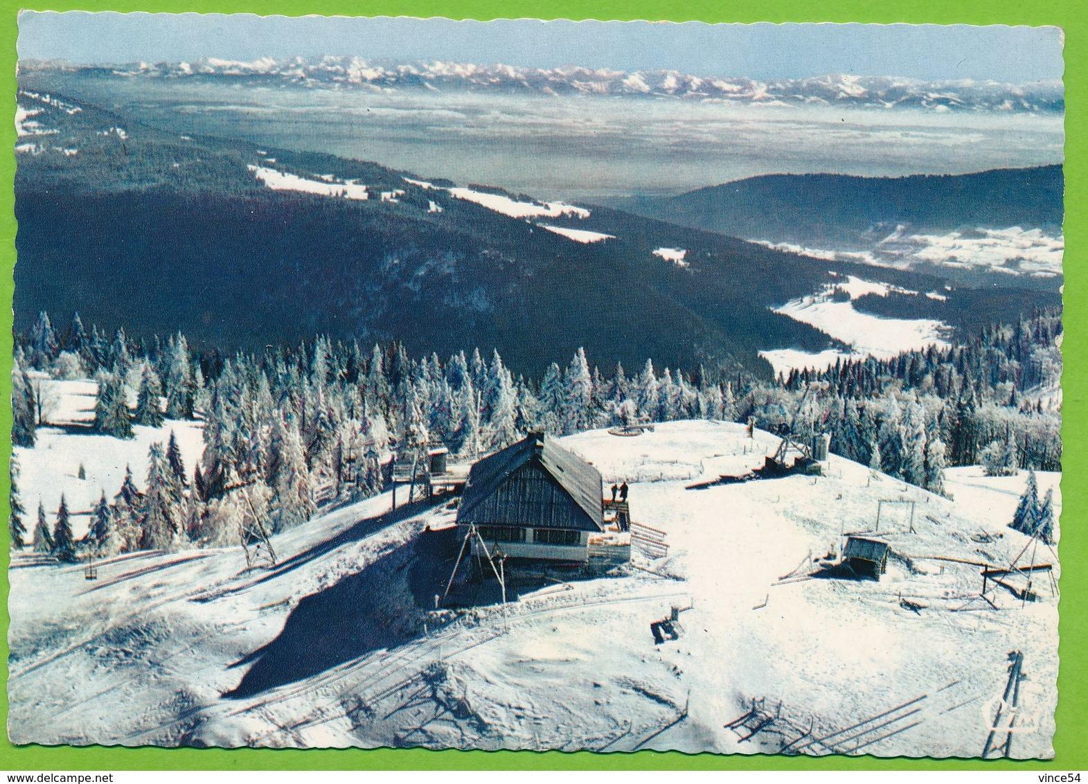 METABIEF - MONT D'OR - Vue Aérienne L'Arrivée Du Télébenne Du Mont-d'Or Et Vue Sur La Chaîne Des Alpes - Autres Communes