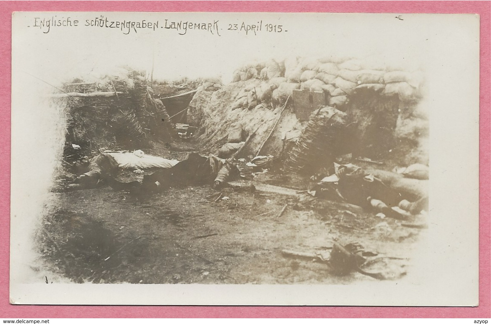 West-Vlaanderen - Flandre Occidentale - Carte Photo - Foto - LANGEMARK - Schützengraben - Guerre 14/18 - Carte N° 16 - Langemark-Poelkapelle