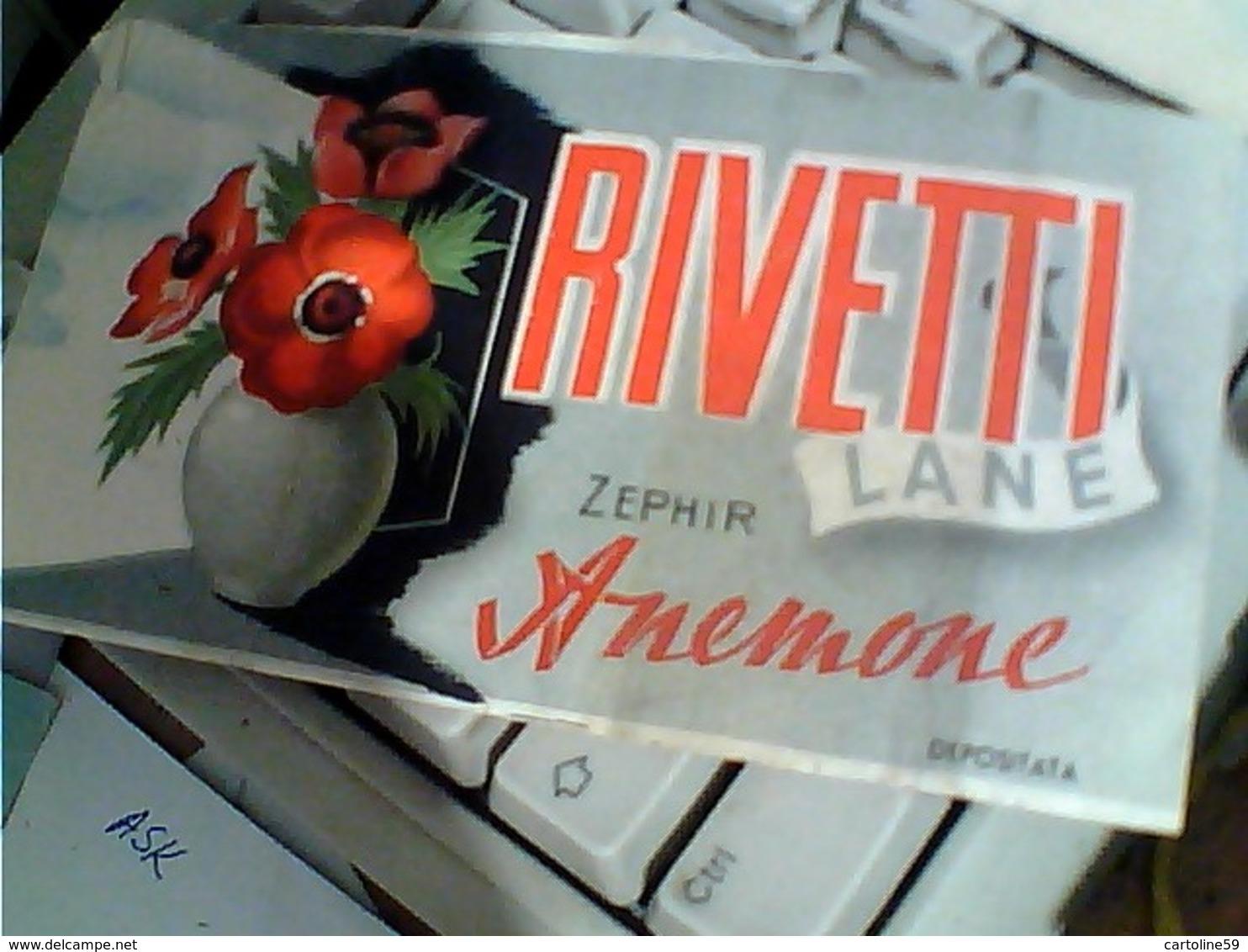 FASCETTA PER GOMITOLI DI LANA LANE RIVETTI ZEPHIR ANEMONE BIELLA Illustrata Vaso Fiori  C116 - Laine