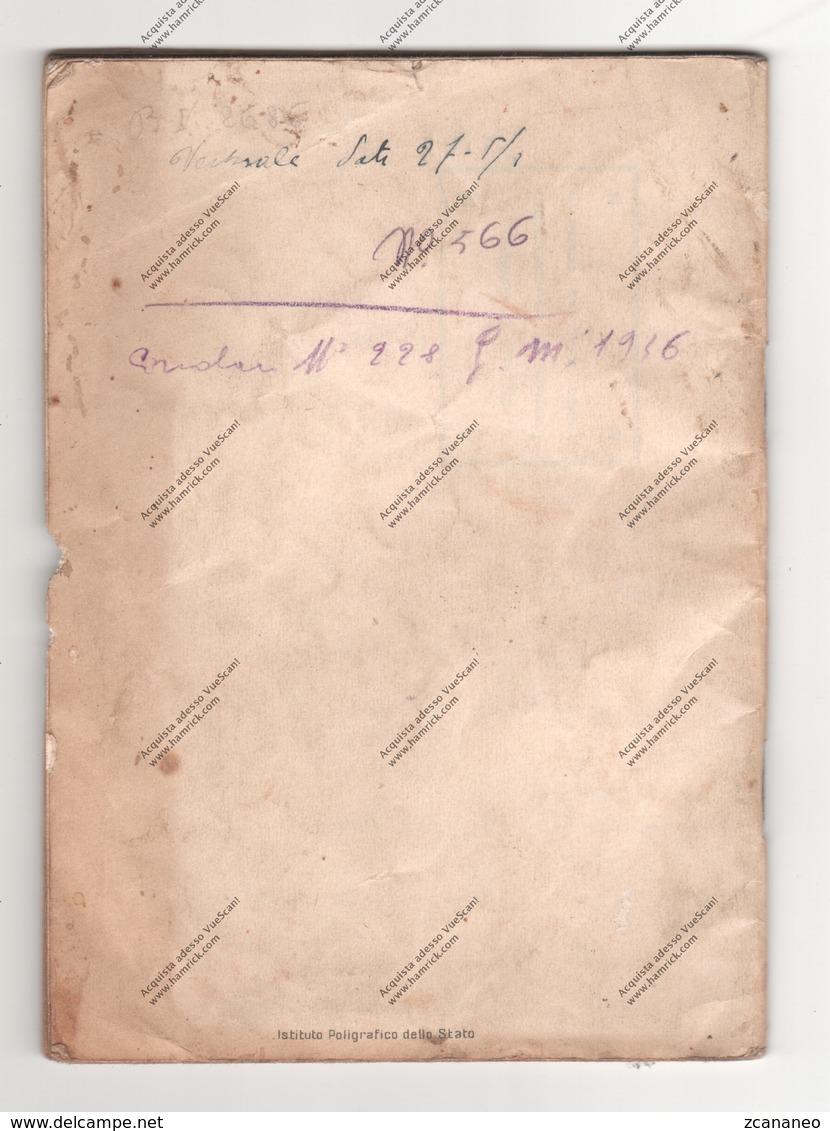 R. ESERCITO ITALIANAO - LIBRETTO PERSONALE DEL CAP. MAGGIORE DI LONIGO VICENZA - - Libri