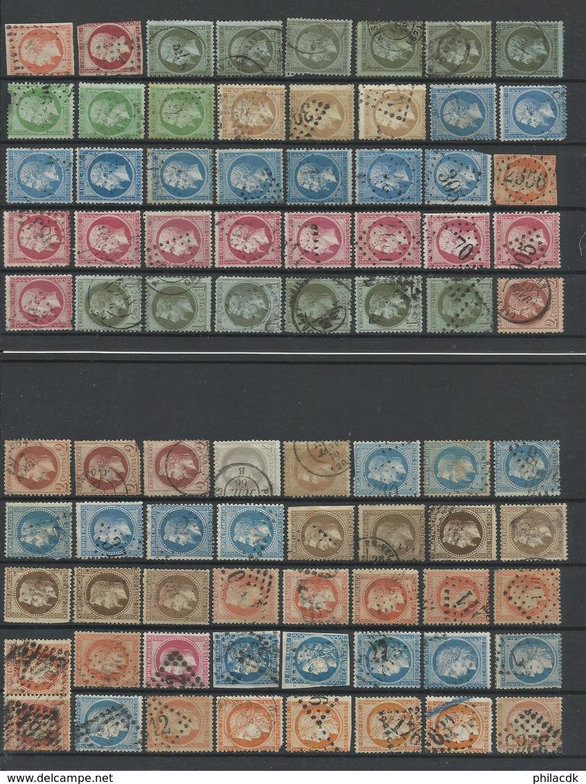 FRANCE - COLLECTION DE 400 TIMBRES NEUFS*/NEUFS (*) SANS GOMME/OBLITERES AVANT 1900 POUR ETUDE - VOIR SCANNS RECTO VERSO - Frankrijk