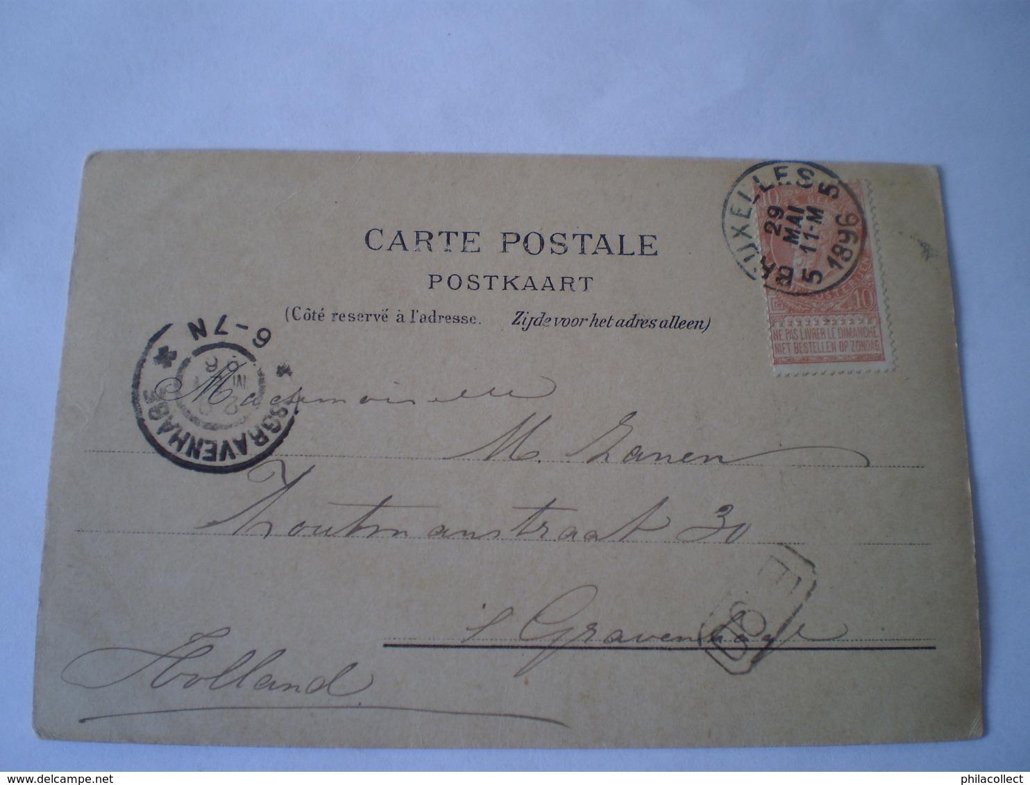 Bruxelles // Litho No 14 (Souvenir ) Used 1896 Early - Tres Rare - België
