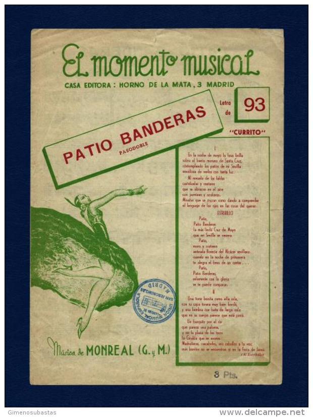 Partitura - PATIO BANDERAS (año 1953) - Partituras