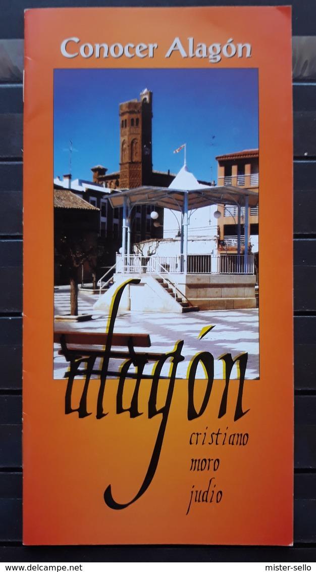 FOLLETO TURISTICO CONOCER ALAGÓN. 8 PÁGINAS. - Folletos Turísticos