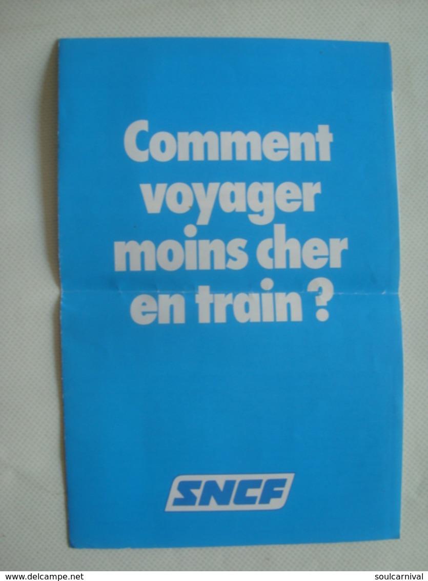 SNCF. COMMENT VOYAGER MOINS CHER EN TRAIN? - FRANCE, 1982. COUPLE/FAMILLE VERMEIL SEJOUR. - Autres