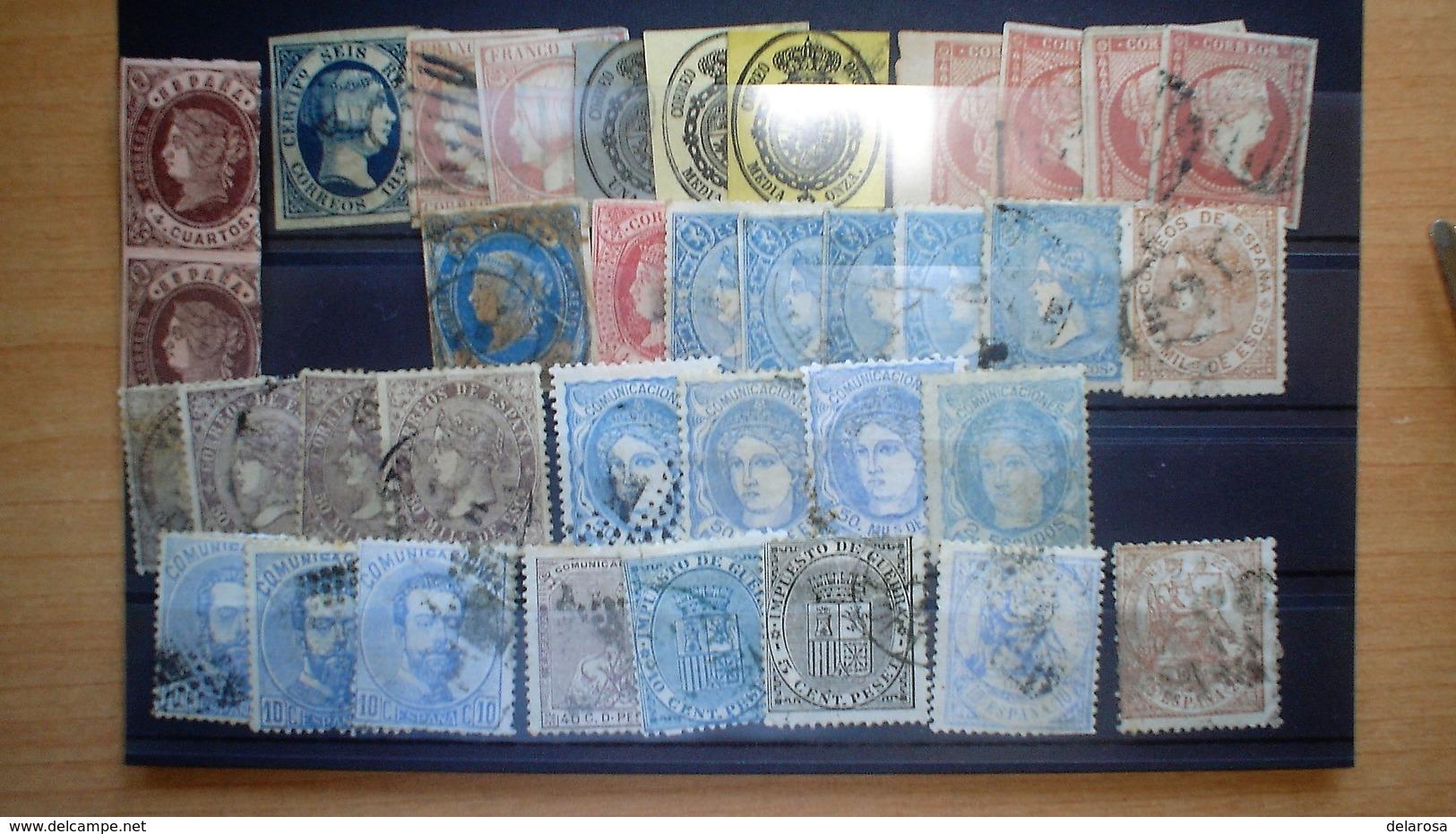Sellos Usados Y Mataselladosdesde 1850 A 1870 - 1850-68 Königreich: Isabella II.