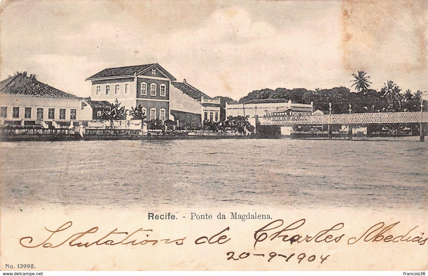 Brésil - Recife - Ponte Da Magdalena 1904 - Recife