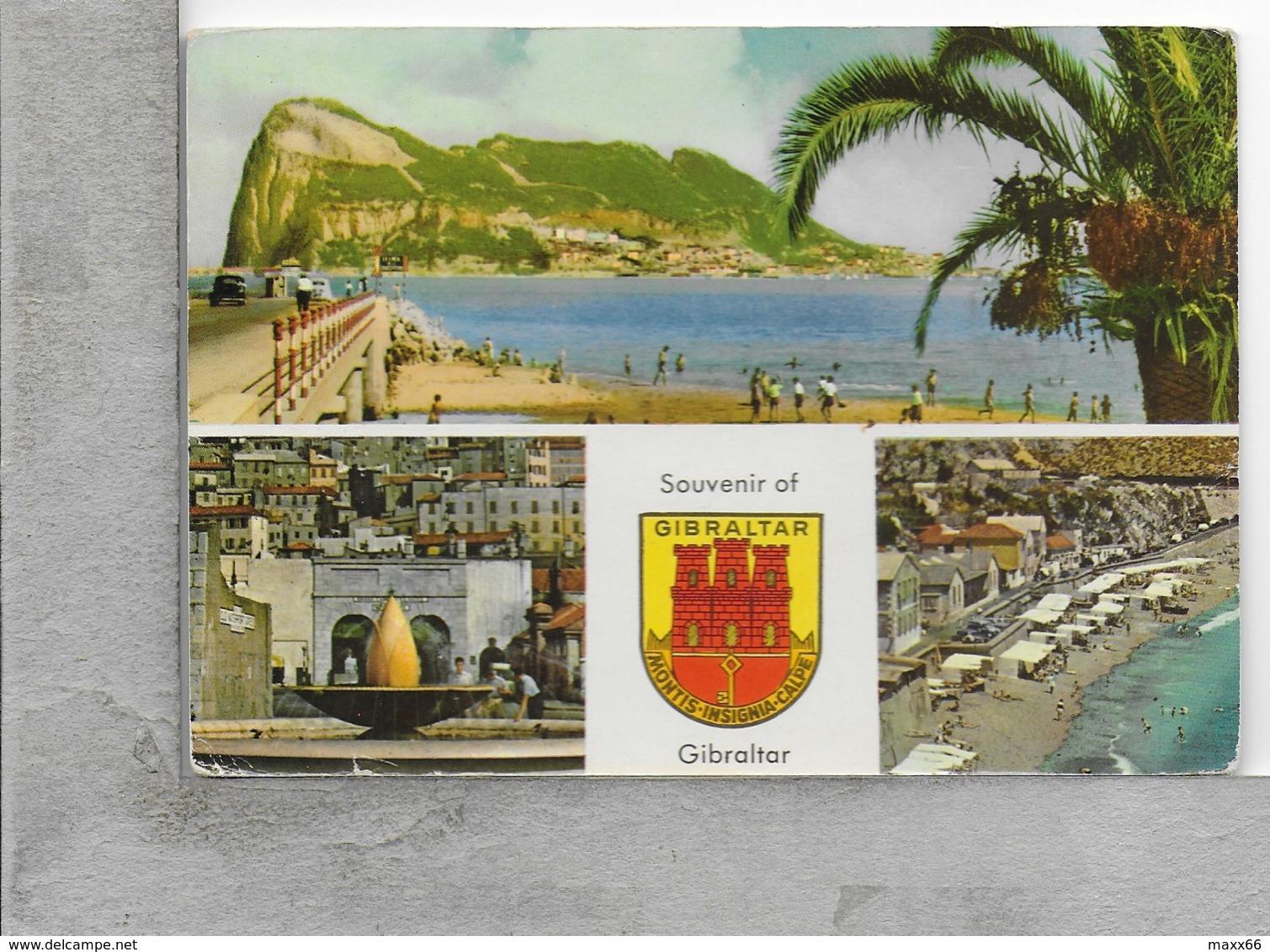 CARTOLINA VG GIBILTERRA - GIBRALTAR - Souvenir - Multivue - 10 X 15 - ANN. 1963 - Gibilterra