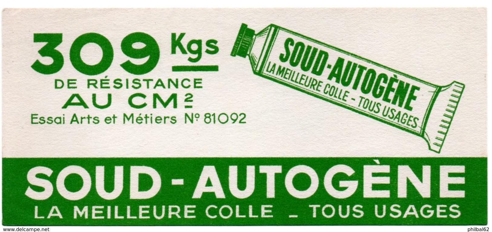 Buvard Colle Soud-autogène, Colle Tous Usages. - Buvards, Protège-cahiers Illustrés