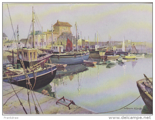 Postcard - Art - Vernon Ward - Silent Harbour, Mevagissey - VG - Postcards