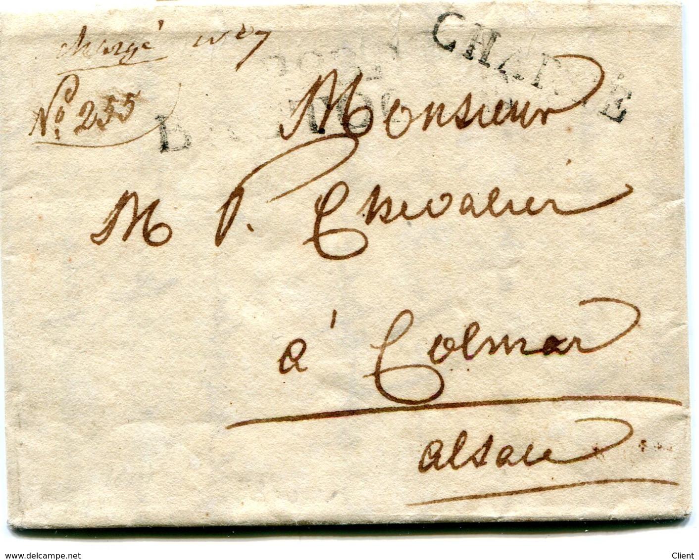 Luxembourg - Lettre Préphilatélie De Wiltz Via BASTOGNE P98P CHARGE Vers COLMAR 1814 - Luxembourg