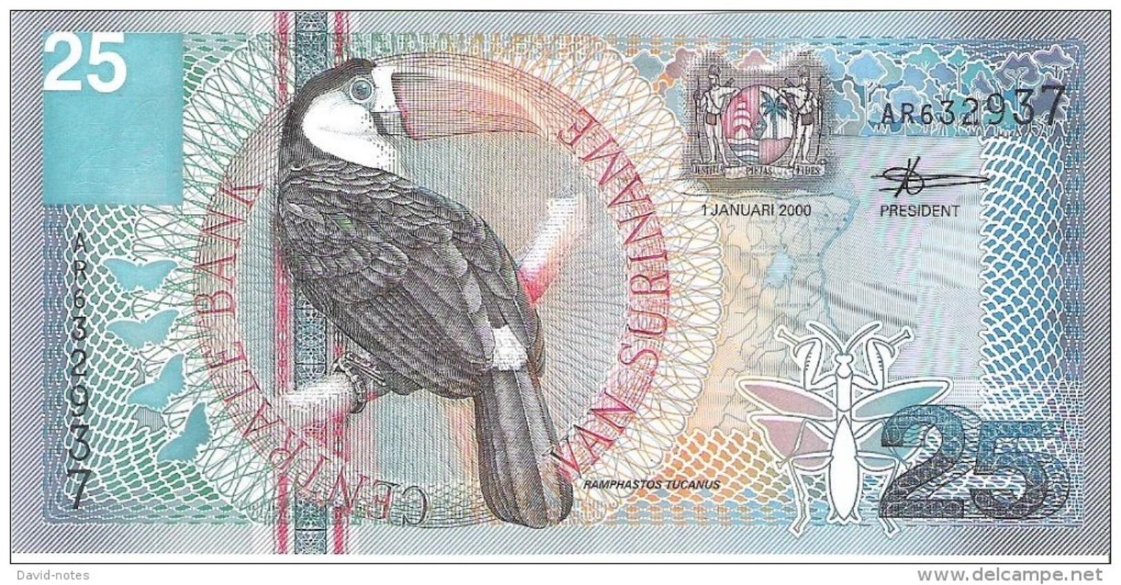 Suriname - Pick 148 - 25 Gulden 2000 - Unc - Surinam