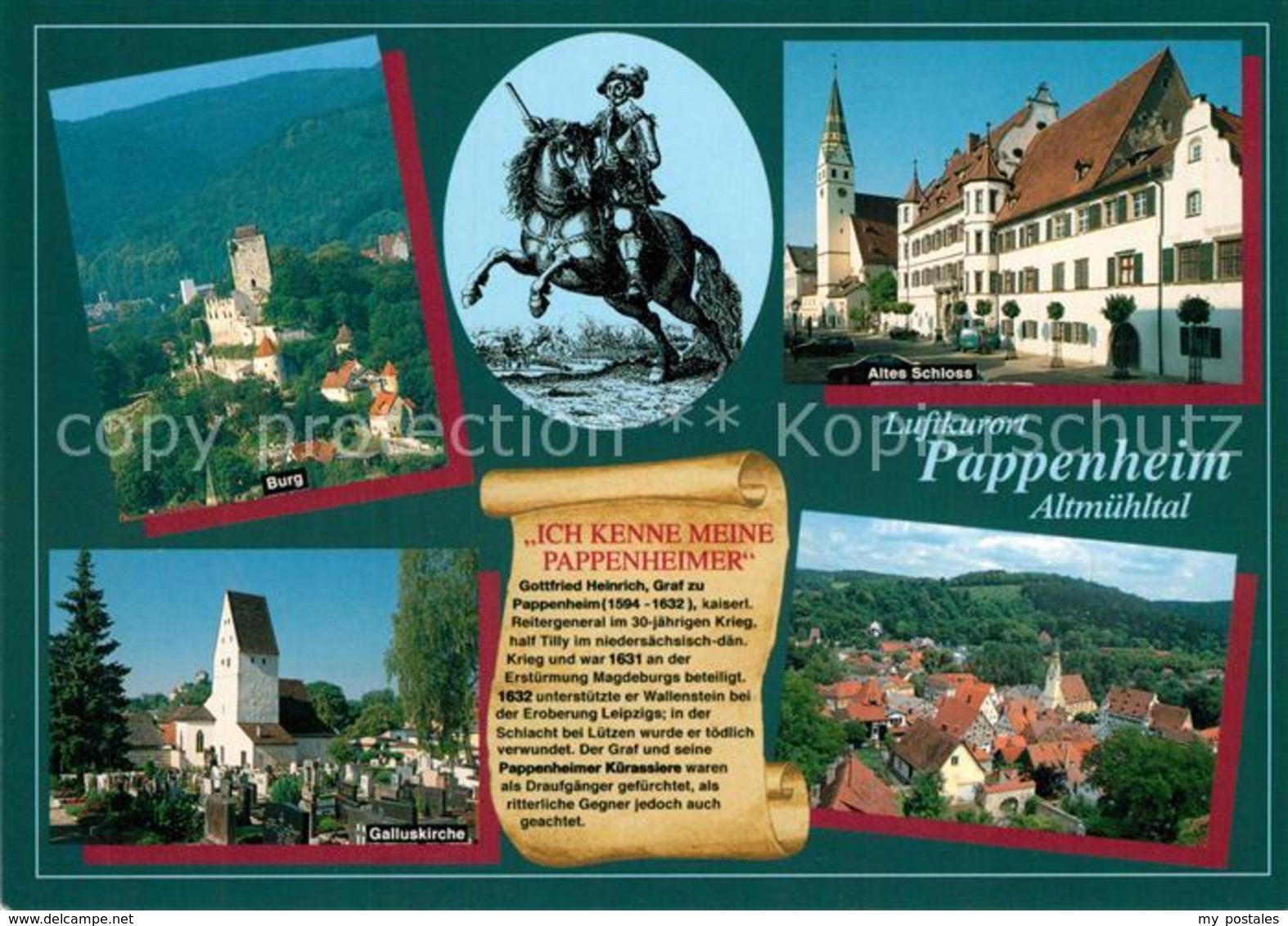 73213165 Pappenheim_Mittelfranken Burg Altes Schloss Galluskirche  Pappenheim Mi - Pappenheim