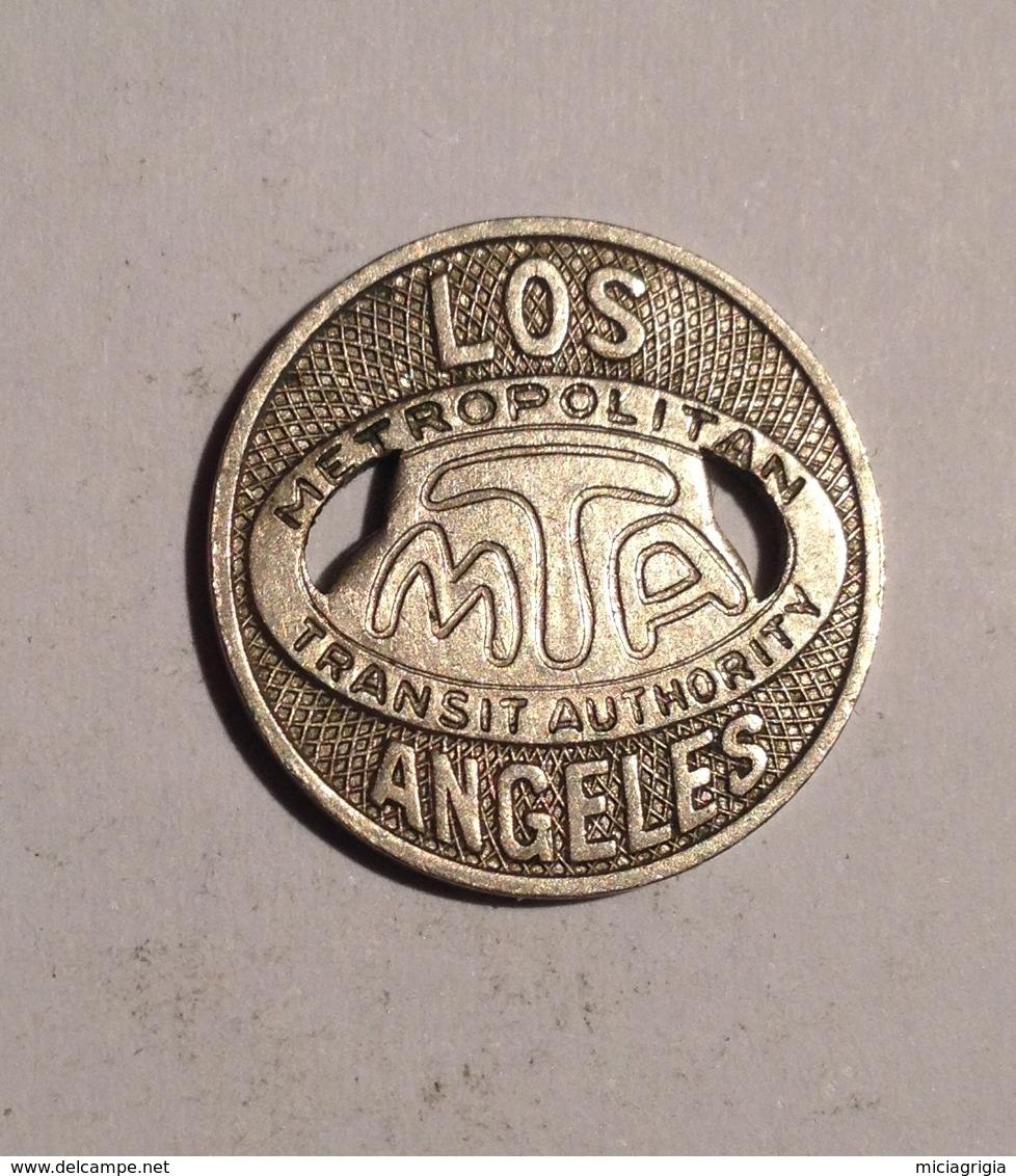 TOKEN JETON GETTONE TRASPORTO TRANSIT LOS ANGELES METROPOLITAN M.T.A. ONE  FARE - Monétaires/De Nécessité