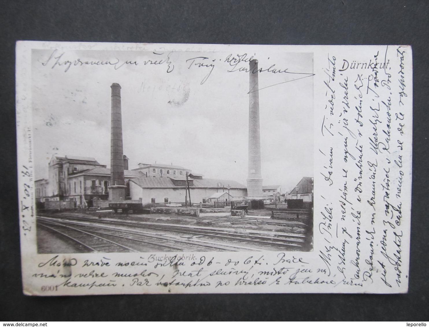 AK DÜRNKRUT B. Gänserndorf Zuckerfabrik 1903 ///  D*31207 - Gänserndorf