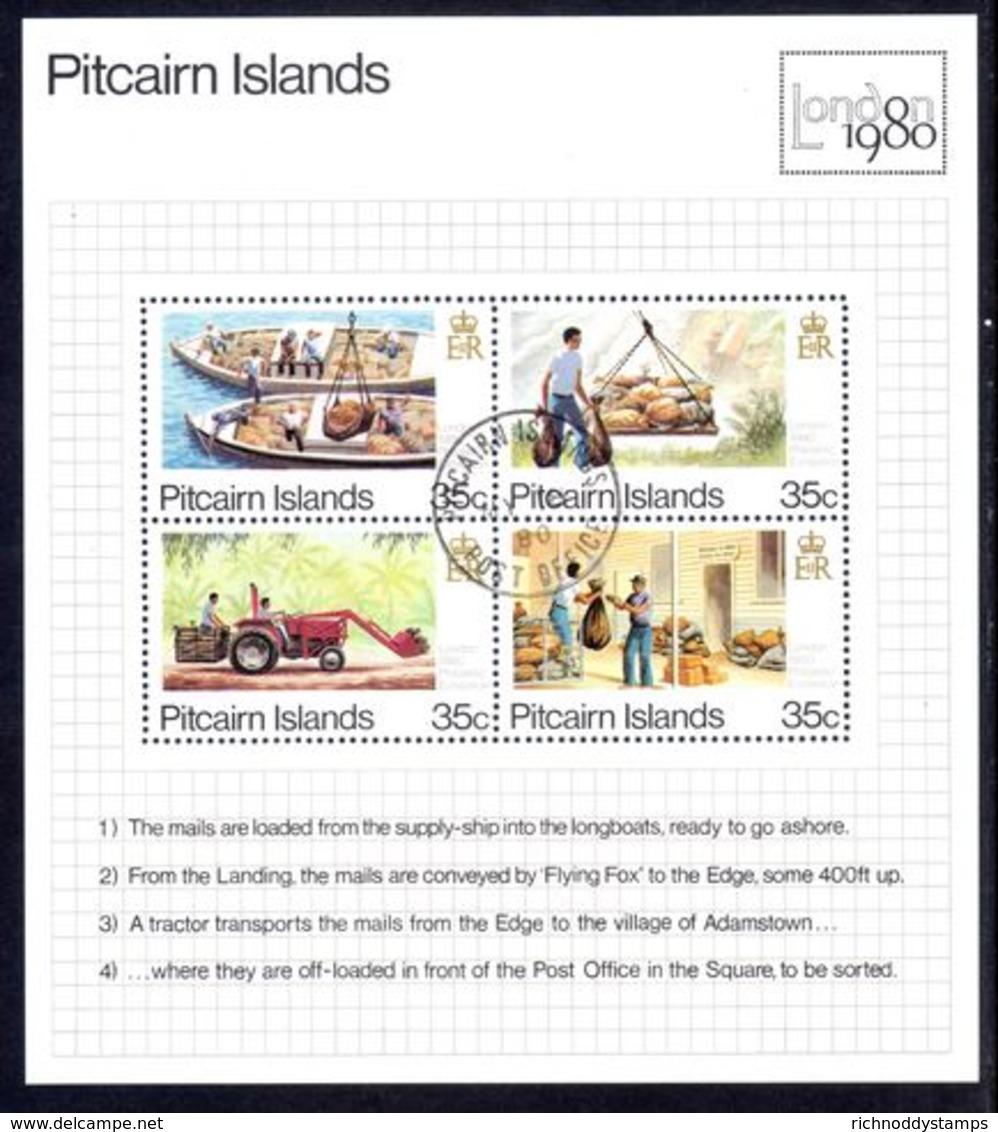 Pitcairn Islands 1980 London 80 Souvenir Sheet Fine Used. - Stamps