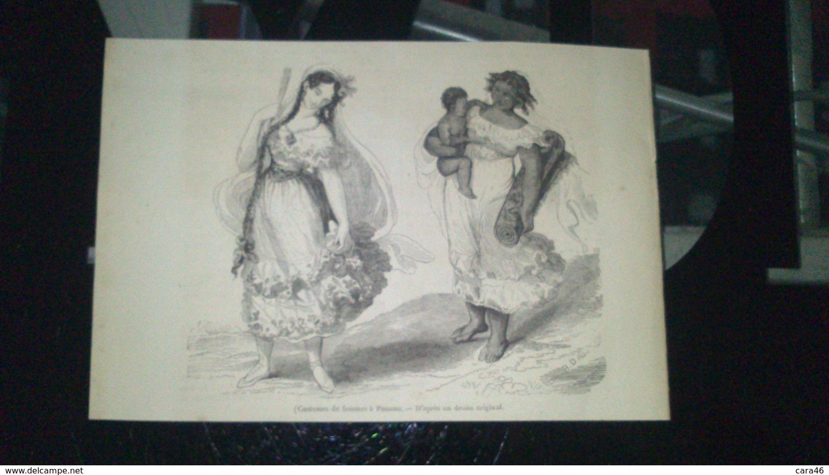 Affiche (gravure) - Costumes De Femmes à PANAMA - Affiches
