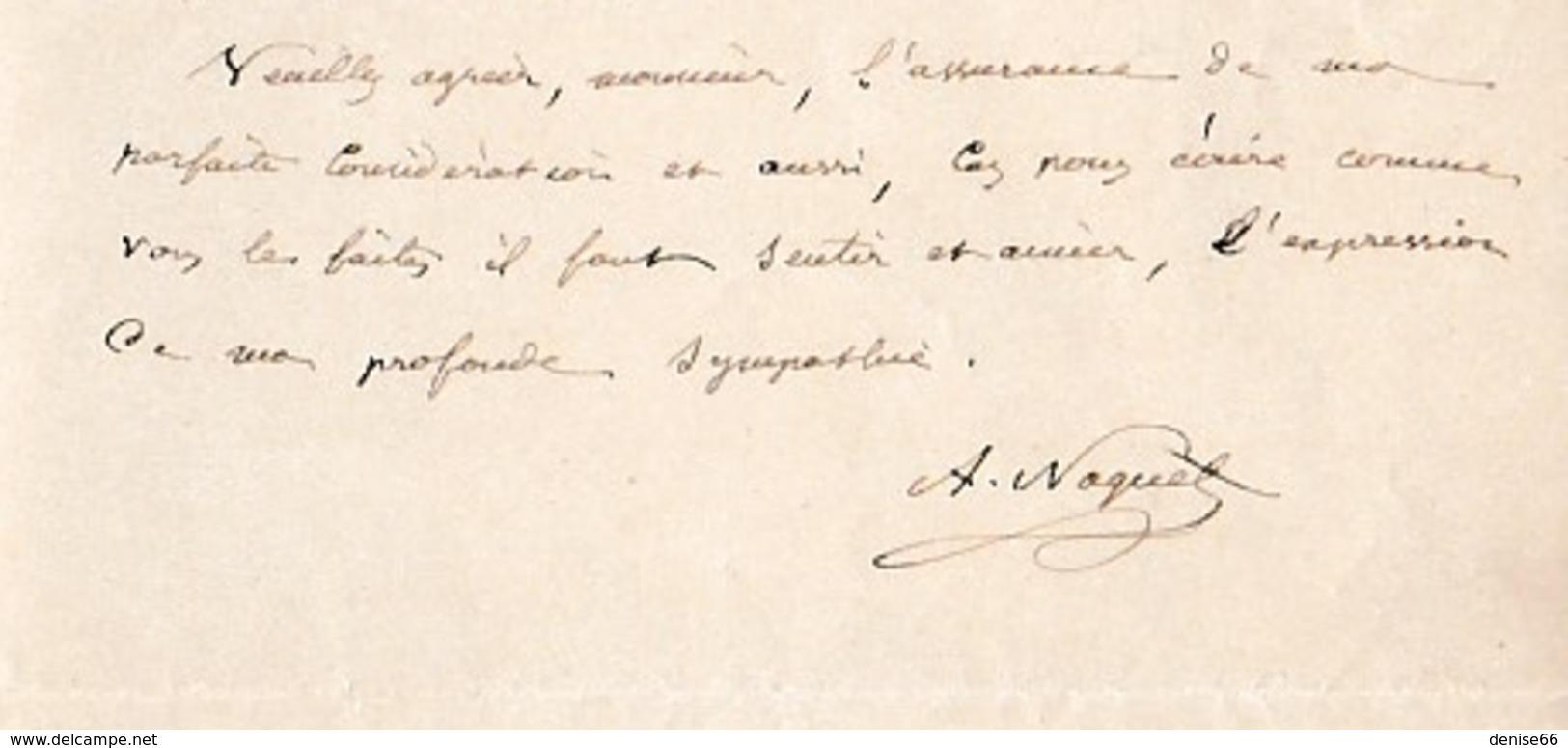 1887 - LAMALOU-le-BAS - L.A.S. NAQUET Alfred-Joseph (1834-1916) Sénateur Du VAUCLUSE, Boulangiste, Affaire De PANAMA - Documents Historiques