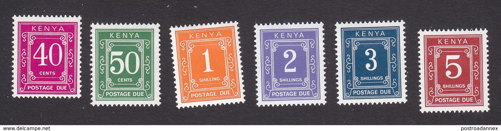 Kenya, Scott #J9-J10, J11-J14, Mint Hinged, Postage Due, Issued 1987-98 - Kenya (1963-...)