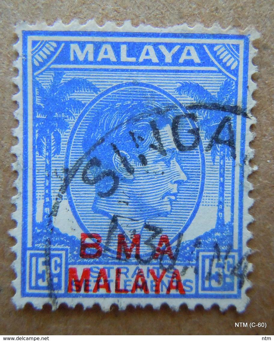 MALAYA STRAITS SETTLEMENTS - KGVI Definitive BMA MALAYA Overprint In Red. Scott # 265 Used - Malaya (British Military Administration)