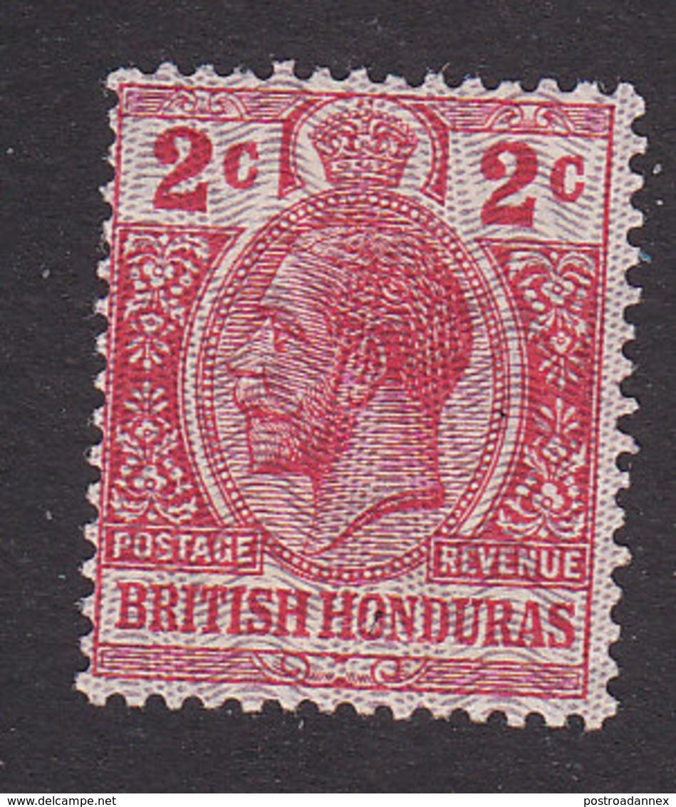 British Honduras, Scott #86, Mint Hinged, King George V, Issued 1915 - British Honduras (...-1970)