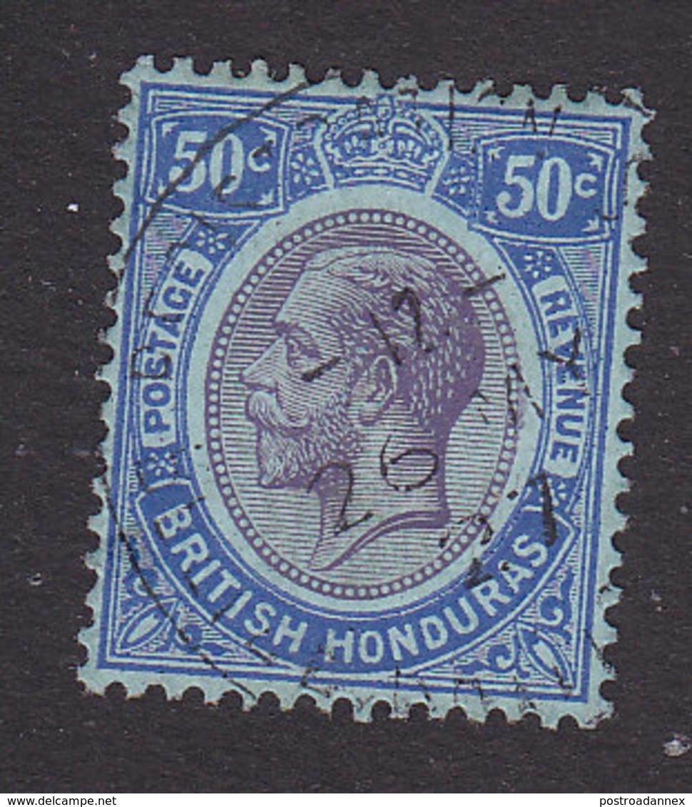 British Honduras, Scott #100, Used, King George V, Issued 1922 - British Honduras (...-1970)