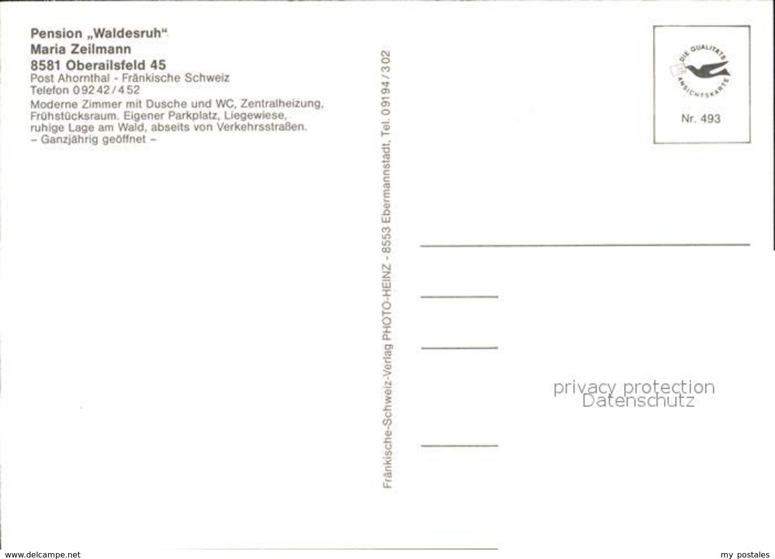 72518299 Oberailsfeld Pension Waldesruh Ahorntal - Germania