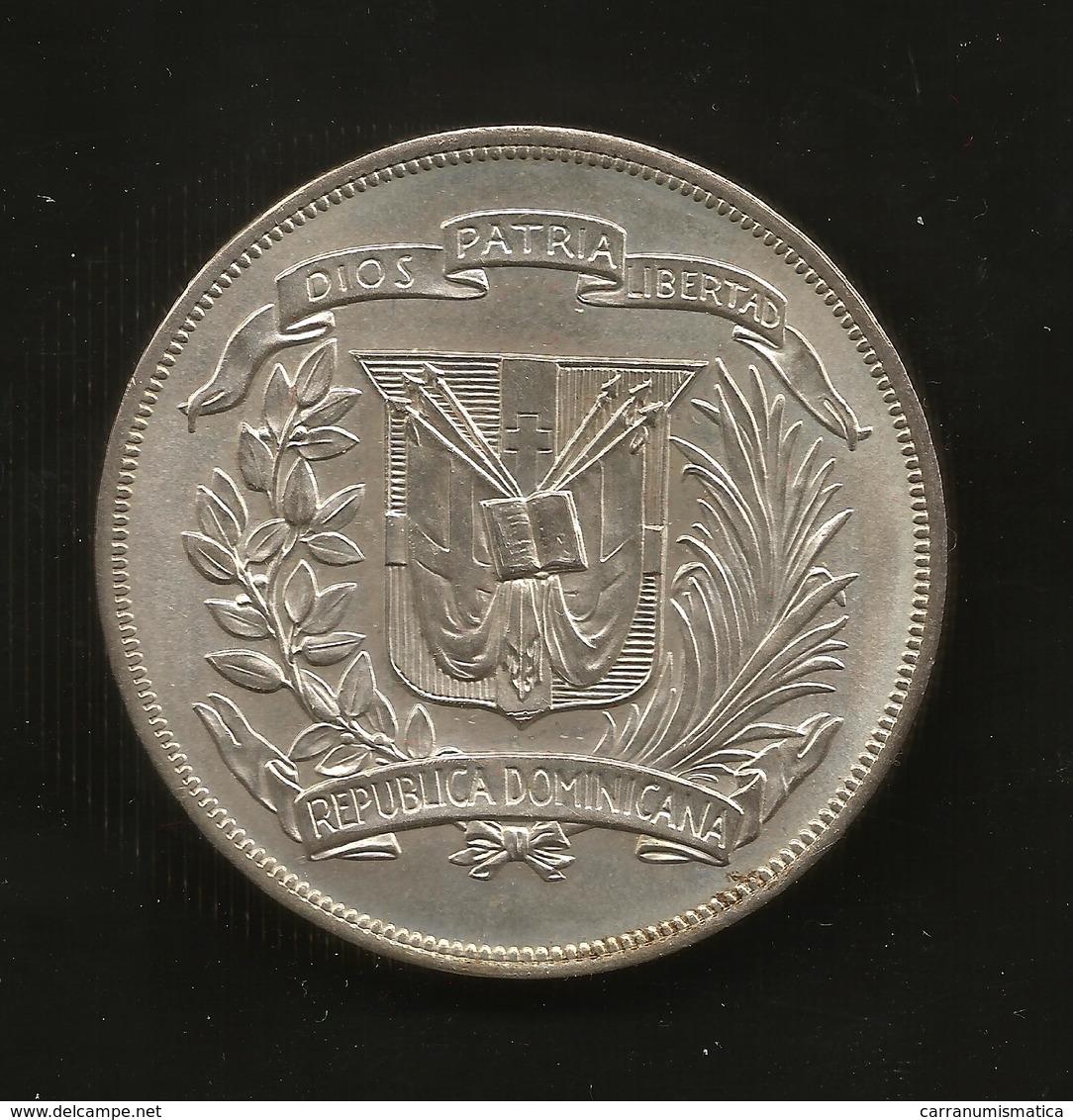 Dominican Republic - One Peso ( 1974 Games / Juegos ) Silver - Repubblica Dominicana - Dominicana