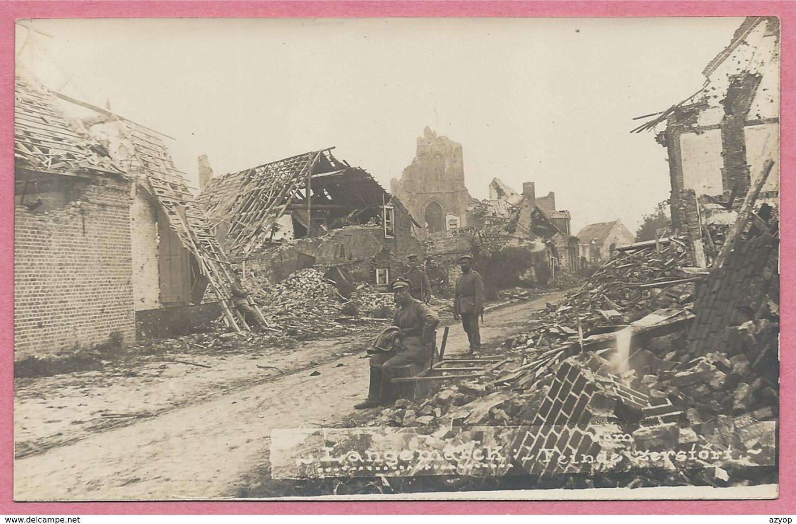 West-Vlaanderen - Flandre Occidentale - Carte Photo - Foto - LANGEMARK - Ruines - Guerre 14/18 - Carte N° 38 - Langemark-Poelkapelle