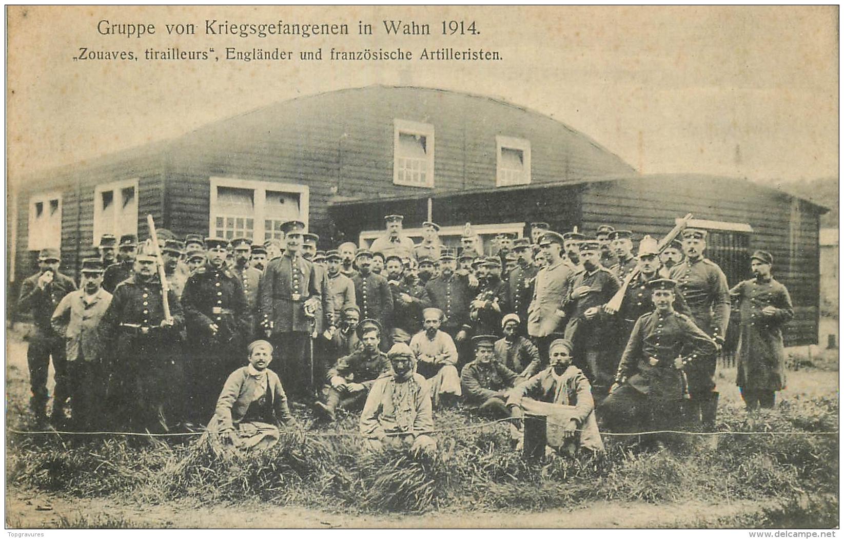 CP GRUPPE VON KRIEGSGEFANGENEN IN WAHN 1914 - Guerre 1914-18