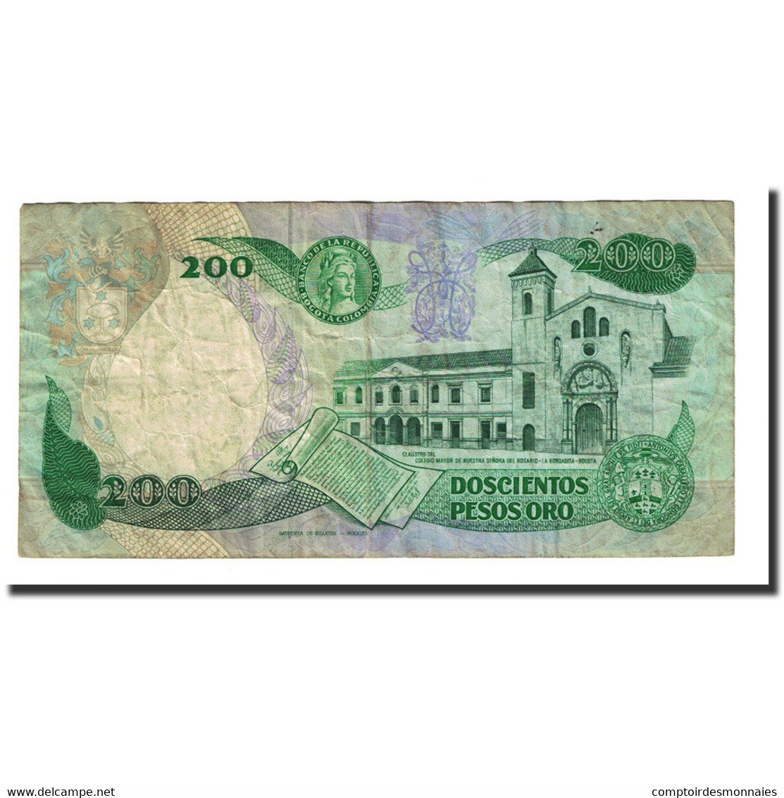 Billet, Colombie, 200 Pesos Oro, 1985-11-01, KM:429c, TB - Colombie