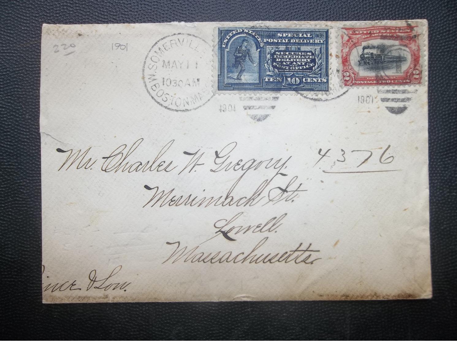 USA: 1901 Cover To Lowell, Massachusetts (#NC2) - Verenigde Staten