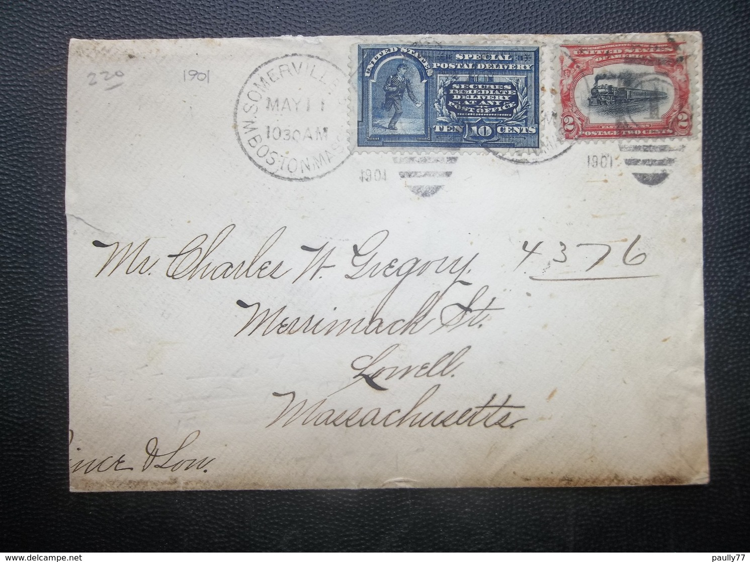 USA: 1901 Cover To Lowell, Massachusetts (#NC2) - Etats-Unis