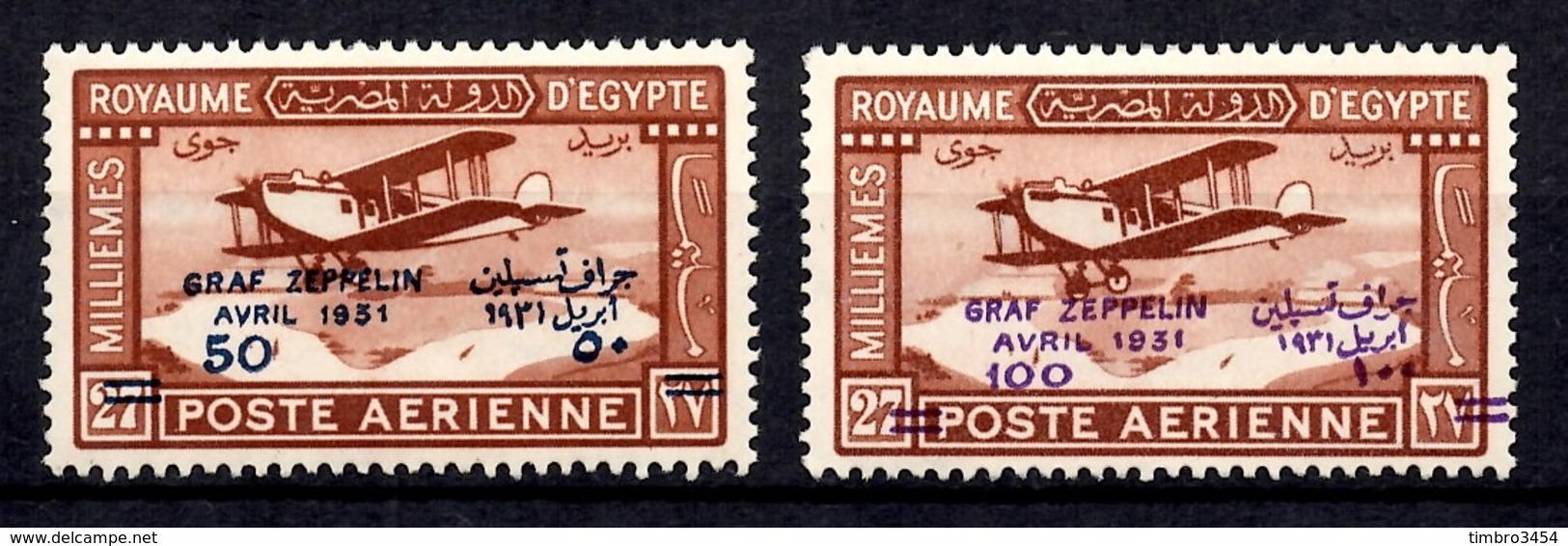 Egypte Poste Aérienne YT N° 3 Et 4 Neufs *. B/TB. A Saisir! - Luchtpost