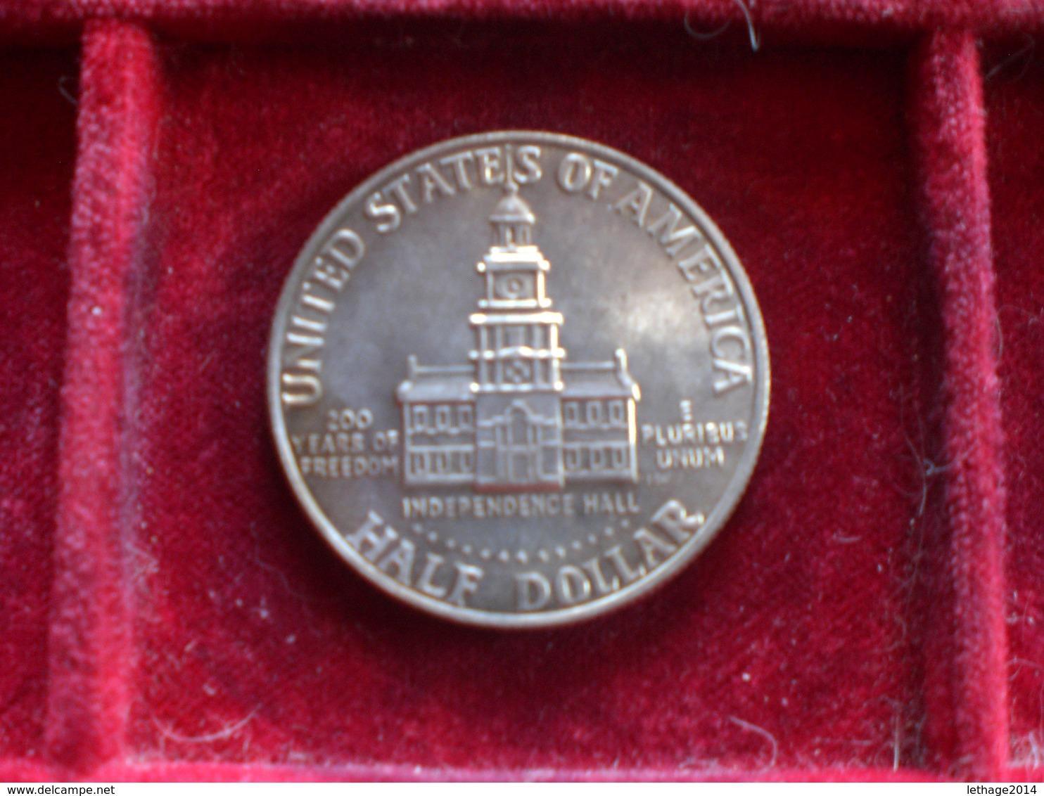 UNITED STATE EE.UU ÉTATS-UNIS US HALF DOLLAR KENNEDY 1976 SILVER ARGENTO RIF. TAGG. - 1964-…: Kennedy