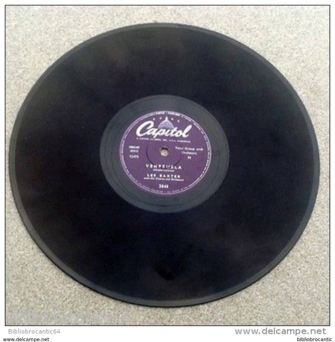 "78 Tours"" LES BAXTER  "" < THE HIGH AND THE MIGHT / VENEZUELA  < CAPITOL 2845 - 78 Rpm - Schellackplatten"
