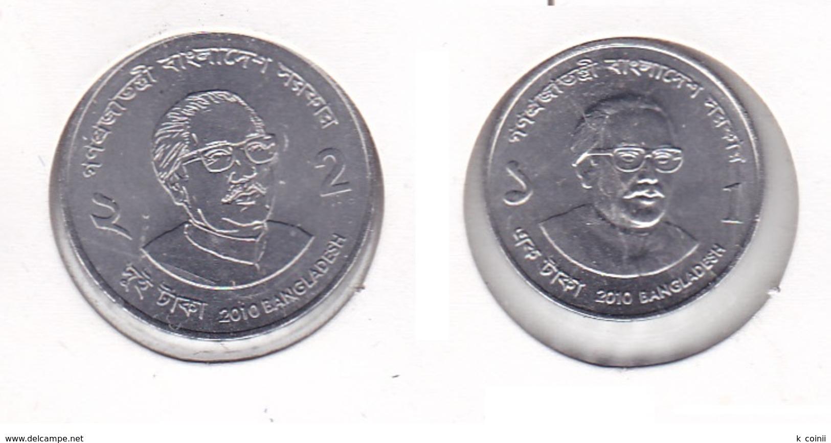Bangladesh - Set Of 1 And 2 Taka 2010 - UNC - Bangladesh