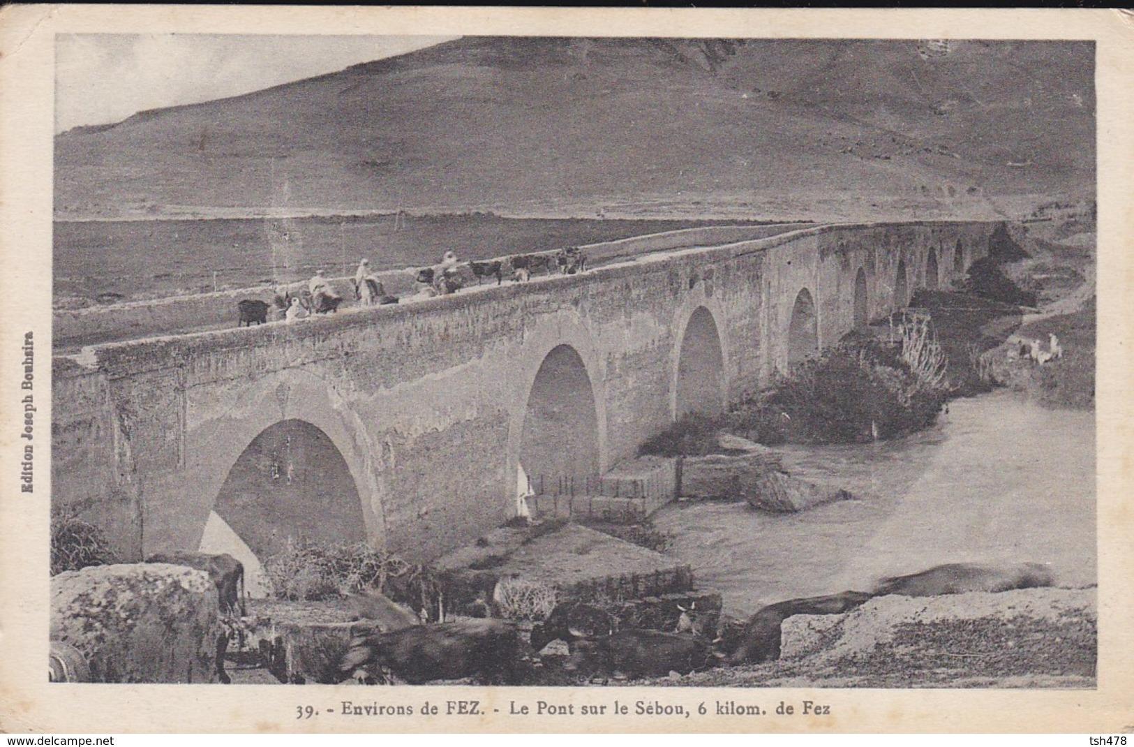 MAROC---environs De FEZ---le Pont Sur Le Sébou, 6 Kilom. De Fez--voir 2 Scans - Fez (Fès)