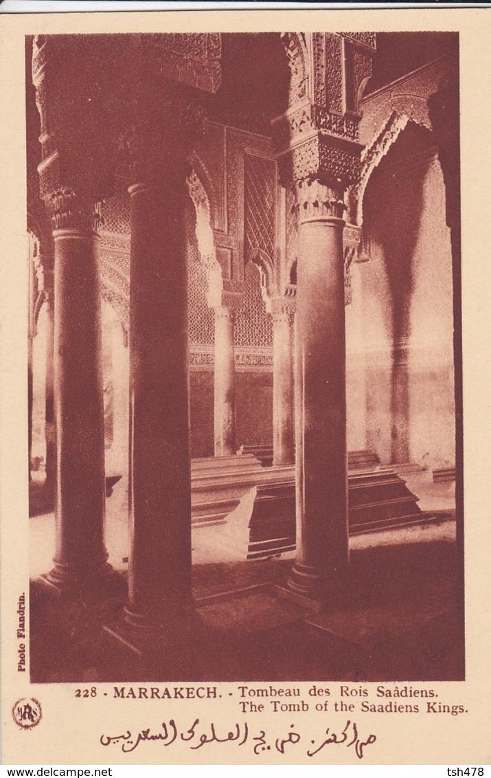 MAROC---MARRAKECH--tombeau Des Rois Saâdiens- Voir 2 Scans - Marrakech