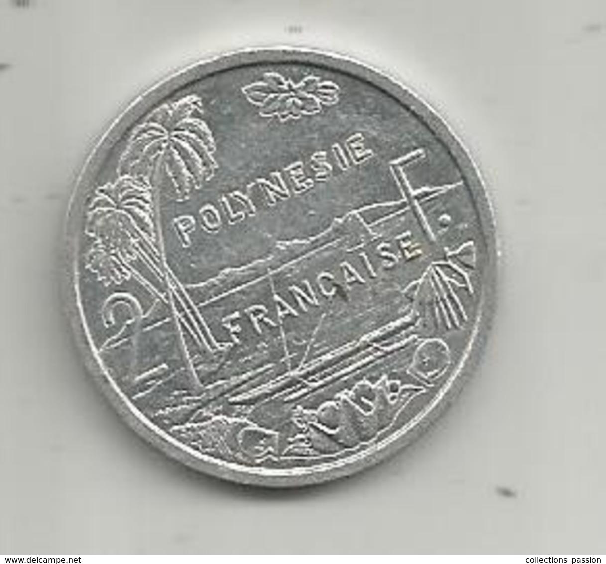Monnaie , POLYNESIE FRANCAISE , 2008 , 2 F , 2 Scans - Polynésie Française