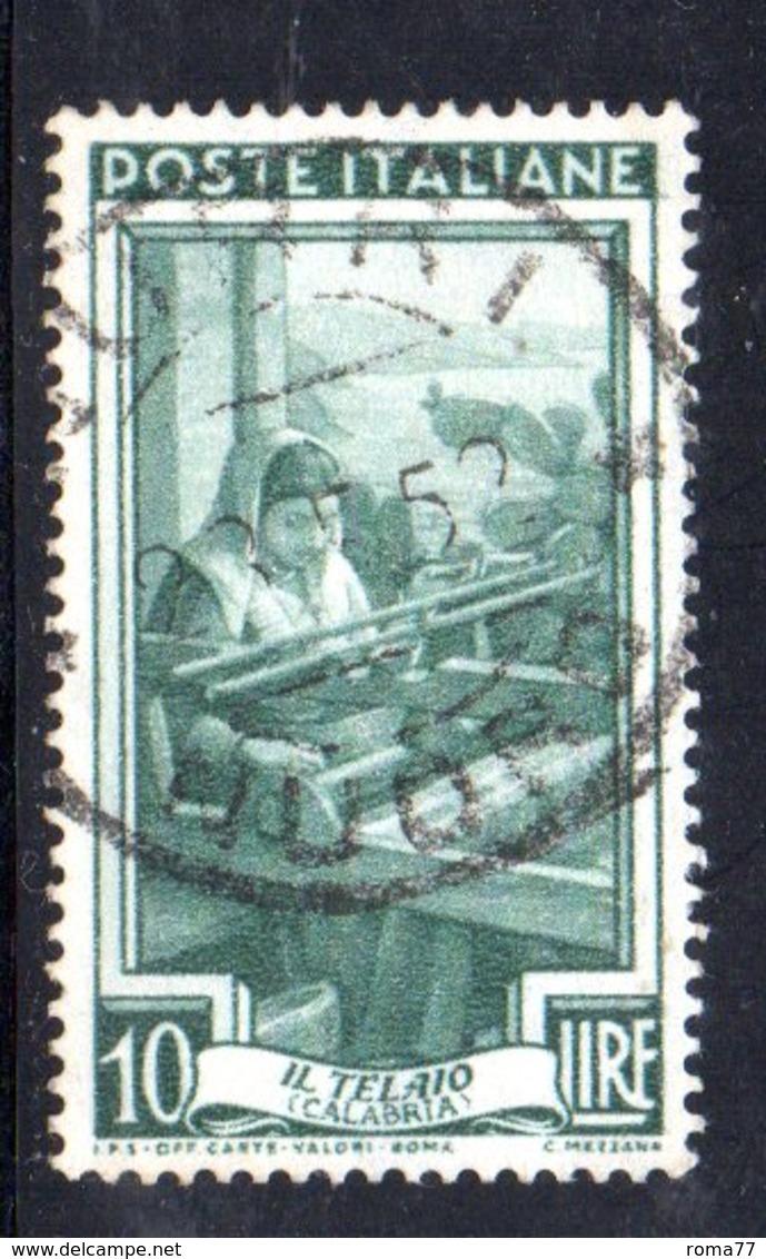 XP2338 - REPUBBLICA LAVORO , 10 Lire Usato Filigrana RUOTA I SA + LETTERE Alto . 8/10 - 6. 1946-.. Repubblica